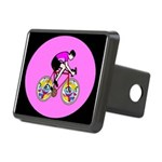 Abstract Bicycle Riding Print Rectangular Hitch Co