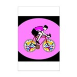Abstract Bicycle Riding Print Poster Print