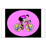 Abstract Bicycle Riding Print Poster