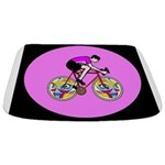 Abstract Bicycle Riding Print Bathmat