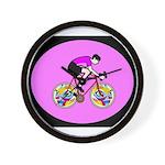 Abstract Bicycle Riding Print Wall Clock