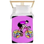 Abstract Bicycle Riding Print Twin Duvet Cover