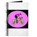 Abstract Bicycle Riding Print Journal
