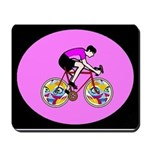 Abstract Bicycle Riding Print Mousepad
