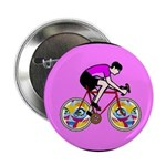"Abstract Bicycle Riding Print 2.25"" Button (100 pa"