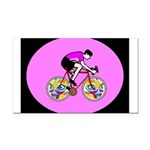 Abstract Bicycle Riding Print Rectangle Car Magnet