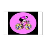 Abstract Bicycle Riding Print Car Magnet 20 x 12