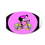 Abstract Bicycle Riding Print Decal Wall Sticker