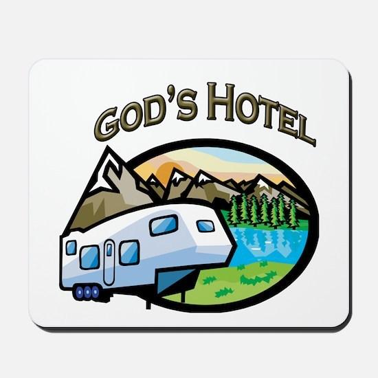 God's Hotel Mousepad