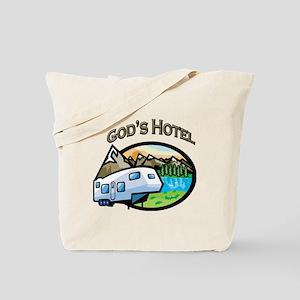 God's Hotel Tote Bag