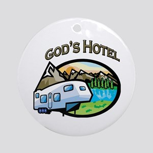 God's Hotel Ornament (Round)