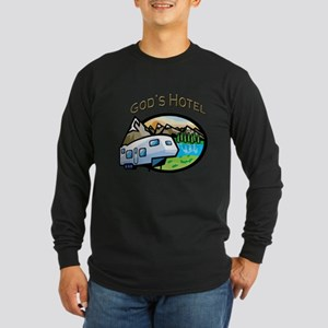 God's Hotel Long Sleeve Dark T-Shirt