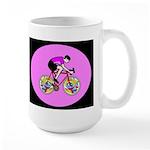 Abstract Bicycle Riding Print Mugs