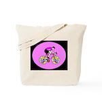 Abstract Bicycle Riding Print Tote Bag
