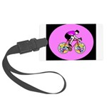 Abstract Bicycle Riding Print Large Luggage Tag