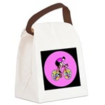 Abstract Bicycle Riding Print Canvas Lunch Bag