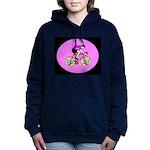 Abstract Bicycle Riding Print Sweatshirt