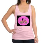 Abstract Bicycle Riding Print Tank Top
