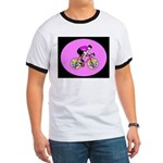 Abstract Bicycle Riding Print T-Shirt