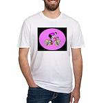 Abstract Bicycle Riding Print T-Shirt