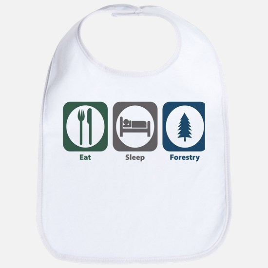 Eat Sleep Forestry Bib