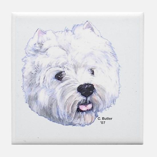 West Highland Terrier - Westi Tile Coaster