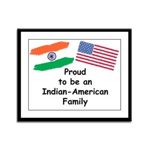 Indian-American Family Framed Panel Print