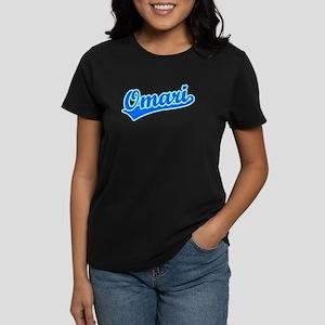 Retro Omari (Blue) Women's Dark T-Shirt