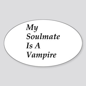 vampire Oval Sticker