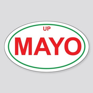 Green & Red UP MAYO Oval Sticker