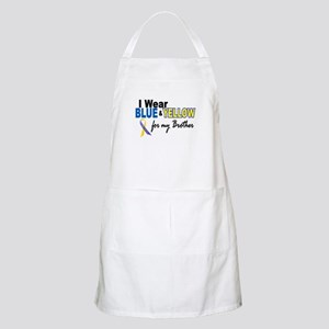 I Wear Blue & Yellow....2 (Brother) BBQ Apron
