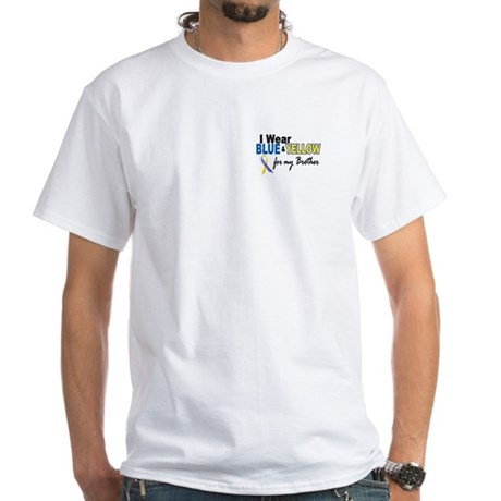I Wear Blue & Yellow....2 (Brother) White T-Shirt