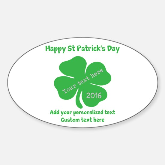 St Patricks Day Personalized Decal