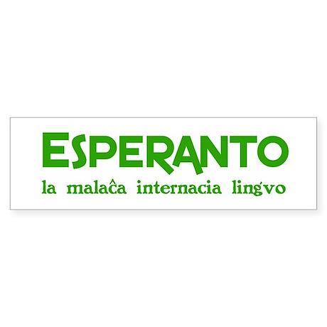 Nonwretched Esperanto Bumper Sticker
