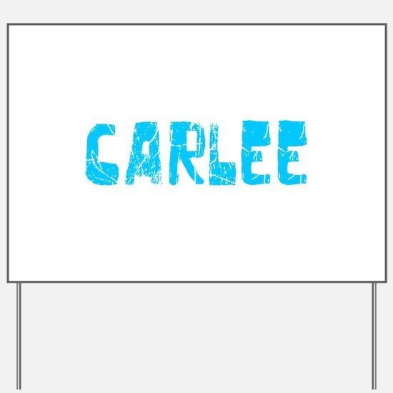 Carlee Faded (Blue) Yard Sign
