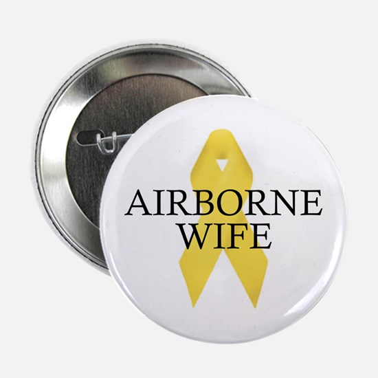 Airborne Wife Ribbon Button