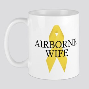 Airborne Wife Ribbon Mug