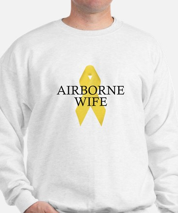 Airborne Wife Ribbon Sweatshirt
