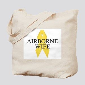 Airborne Wife Ribbon Tote Bag