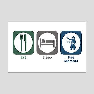 Eat Sleep Fire Marshal Mini Poster Print