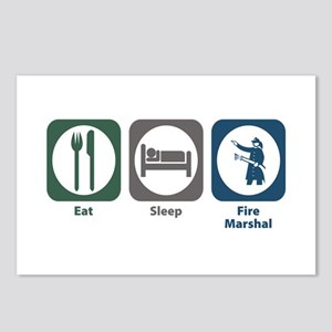 Eat Sleep Fire Marshal Postcards (Package of 8)