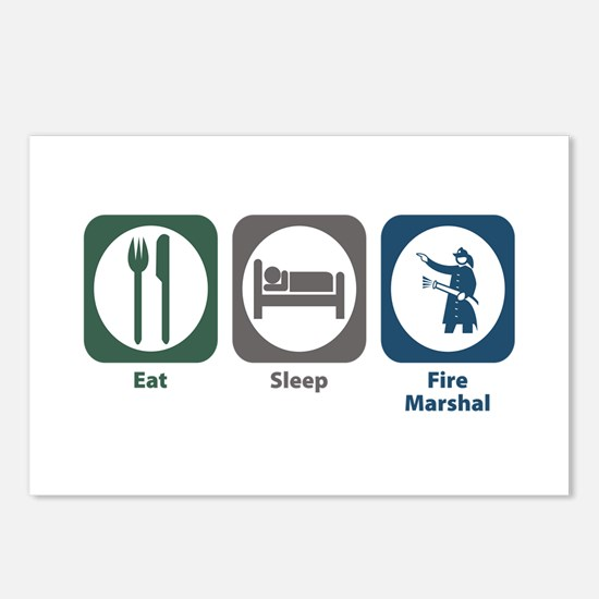 Eat Sleep Fire Marshal Postcards (Package of 8)