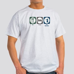 Eat Sleep Fire Marshal Light T-Shirt