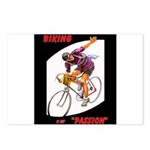 Biking is My Passion, Bicycle Riding Print Postcar