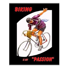 Biking is My Passion, Bicycle Riding Print Small Poster