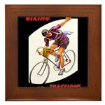 Biking is My Passion, Bicycle Riding Print Framed