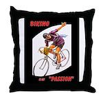 Biking is My Passion, Bicycle Riding Print Throw P