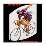 Biking is My Passion, Bicycle Riding Print Tile Co