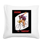 Biking is My Passion, Bicycle Riding Print Square
