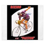 Biking is My Passion, Bicycle Riding Print King Du